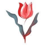 Fleur peinte par huile illustration libre de droits