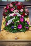 Fleur pour l'enterrement photo libre de droits