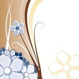 Fleur pour le fond bleu et Photo stock