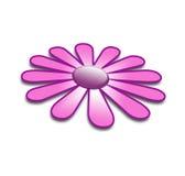 Fleur pourprée dans 3d illustration libre de droits