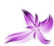 Fleur pourprée de fractale Photographie stock libre de droits