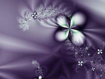 Fleur pourprée et fond romantique de diamants Images stock