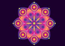 Fleur pourprée et rose Photographie stock libre de droits