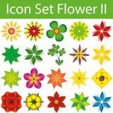 Fleur réglée II d'icône illustration stock