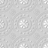 fleur ronde de Dot Line Frame d'art du livre blanc 3D Images libres de droits
