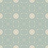Fleur ronde de Dot Line Frame de fond sans couture antique Photos stock