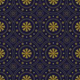 Fleur ronde de Dot Line Frame de fond sans couture antique illustration stock