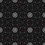 Fleur ronde de Dot Line Frame de fond sans couture antique Photographie stock