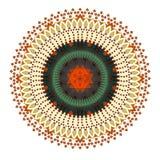 Fleur ronde de mandala Photos libres de droits