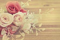 Fleur rose artificielle Photos stock