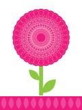 Fleur rose décorative Images stock