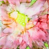 Fleur rose d'encre Photos libres de droits