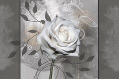 Fleur rose de blanc illustration de vecteur