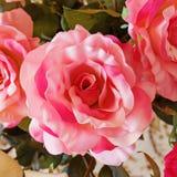 Fleur rose de faux rose Photo libre de droits
