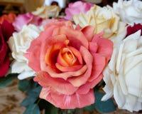 Fleur rose de faux orange Photographie stock libre de droits