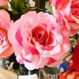 Fleur rose de faux rose Photo stock