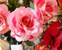 Fleur rose de faux rose Image libre de droits
