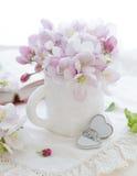Fleur rose de pomme Photographie stock