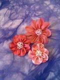 Fleur rose de tissu Photographie stock libre de droits
