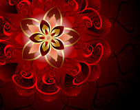 Fleur rouge abstraite Photos libres de droits