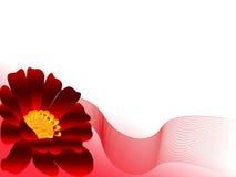 Fleur rouge avec le réseau Images stock