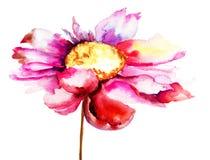 Fleur rouge colorée Images stock