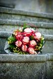 Fleur rouge de mariage Photo libre de droits