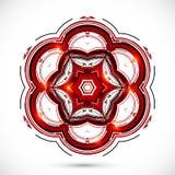 Fleur rouge foncé de technologie abstraite Photos stock