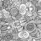 Fleur sans couture courante, modèle de griffonnage backg d'art abstrait Photo libre de droits