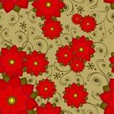 Fleur sans joint de tuile de papier peint Photos stock