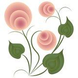 Fleur sauvage rose, Image stock