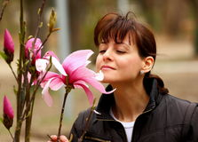 Fleur sentante de femme Images libres de droits