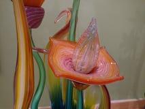 Fleur soufflée par verre artistique Photo libre de droits