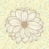 Fleur sur des lames illustration libre de droits