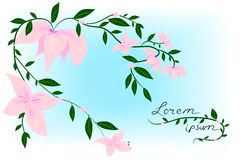 Fleur sur la carte de ressort Illustration de vecteur Image stock