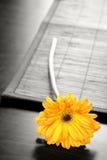 Fleur sur le Tableau Photographie stock