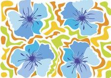 Fleur tropicale de plage - bleu Image libre de droits