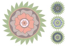 Fleur tropicale de vecteur stylisé Illustration Stock