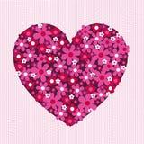 Fleur Valentine Heart Pattern sur la dentelle Image libre de droits
