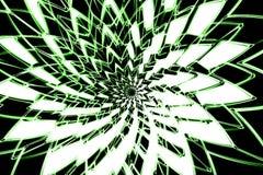 Fleur verte abstraite Photos libres de droits