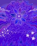 Fleur violette, élément de conception de ressort d'art illustration stock