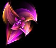 Fleur vive de fractale Images libres de droits