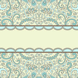 Fleuri-carte Photo stock