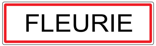 Fleurie city traffic sign illustration in France Royalty Free Stock Photo