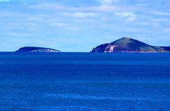 Fleurieu Coastline. Dramatic Coastline on the Fleurieu Peninsula in South Australia. The photograph is taken from Port Elliott, looking towards Victor Harbor and Stock Image