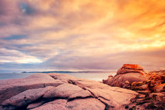 Fleurieu Peninsula landscape, South Australia. Fleurieu Peninsula landscape view from Horseshoe bay, South Australia royalty free stock image