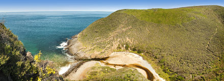 Fleurieu Peninsula South Australia. Deep Creek Conservation Park on the Fleurieu Peninsula in South Australia in panoramic format Royalty Free Stock Images