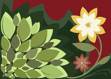 Fleurish Flowers. Flower and leaf design Royalty Free Illustration