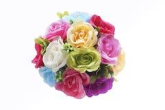 Fleurissez dans le vase de la vue supérieure d'isolement sur le fond, l'amour, la valentine et romantique blancs Photo stock