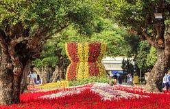 Fleurissez l'ASEAN de logo dans le festival 2015 de fleurs d'ASEAN Image stock